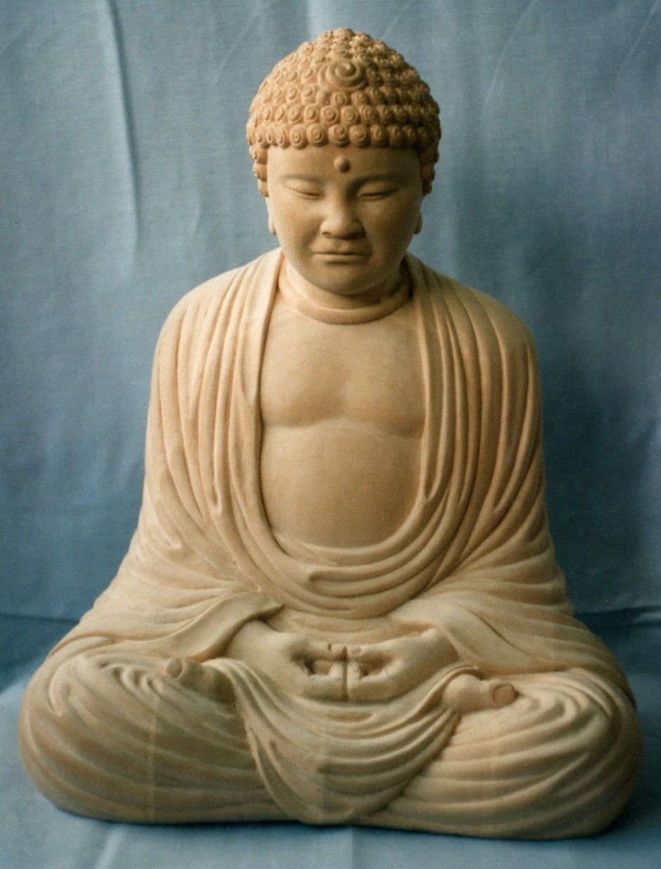 Buddha Carved In Jelluton - buddha, carvings for casting, stone buddha, jelluton