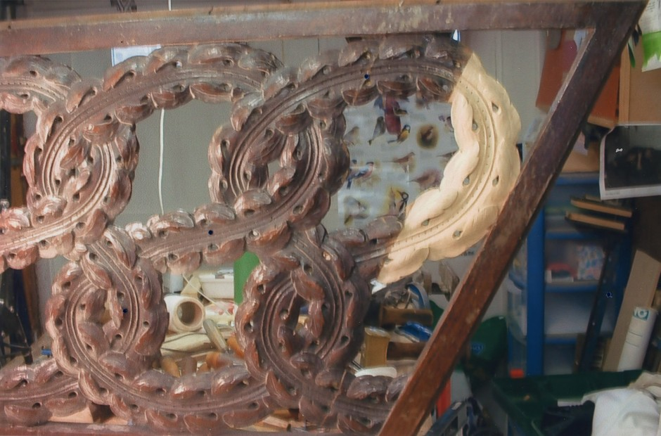 Carved and Restored Stair Panel - stair panel carved and restored