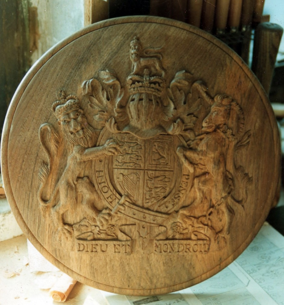 Coat Of Arms - coat of arms carved in wood
