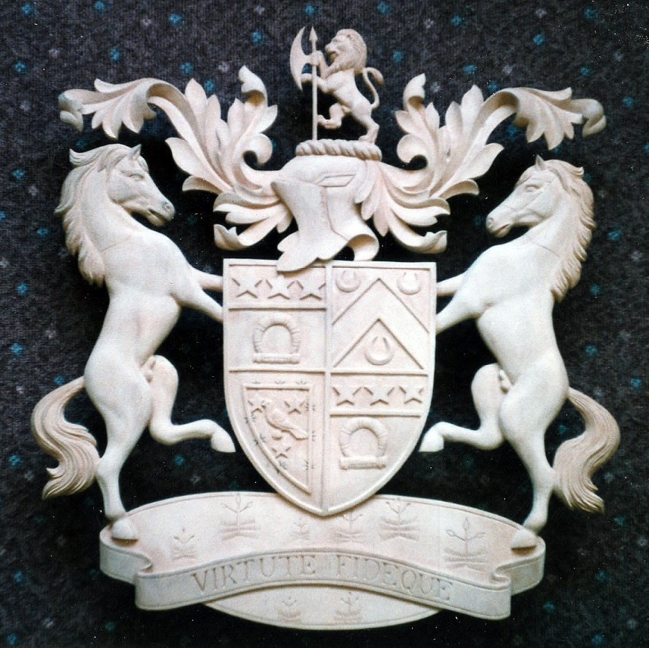 Coat Of Arms In Wood - coat of arms wood carving jose sarabia
