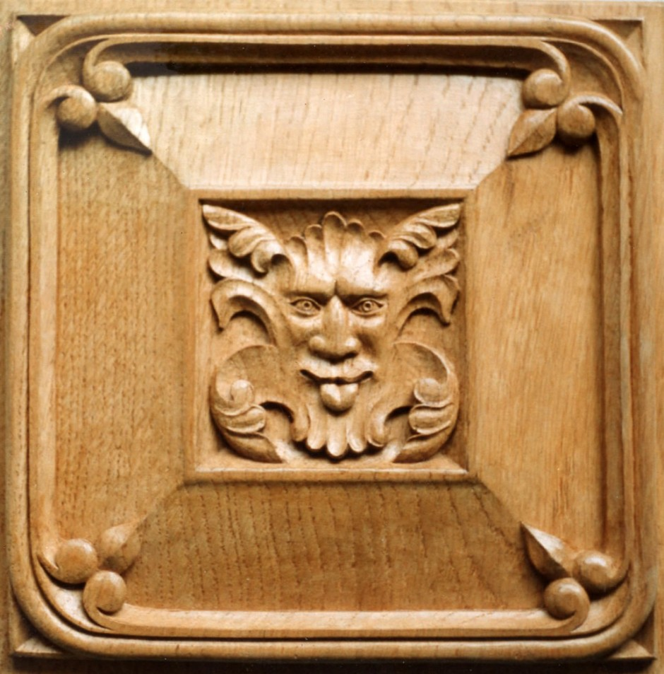 Decorative Panel Carved In Oak - oak decorative panel carved
