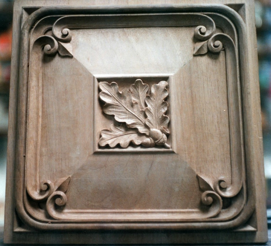 Decorative Panel in French Walnut - french walnut wood carving decorative panel
