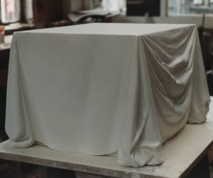 Draped Material Plinth