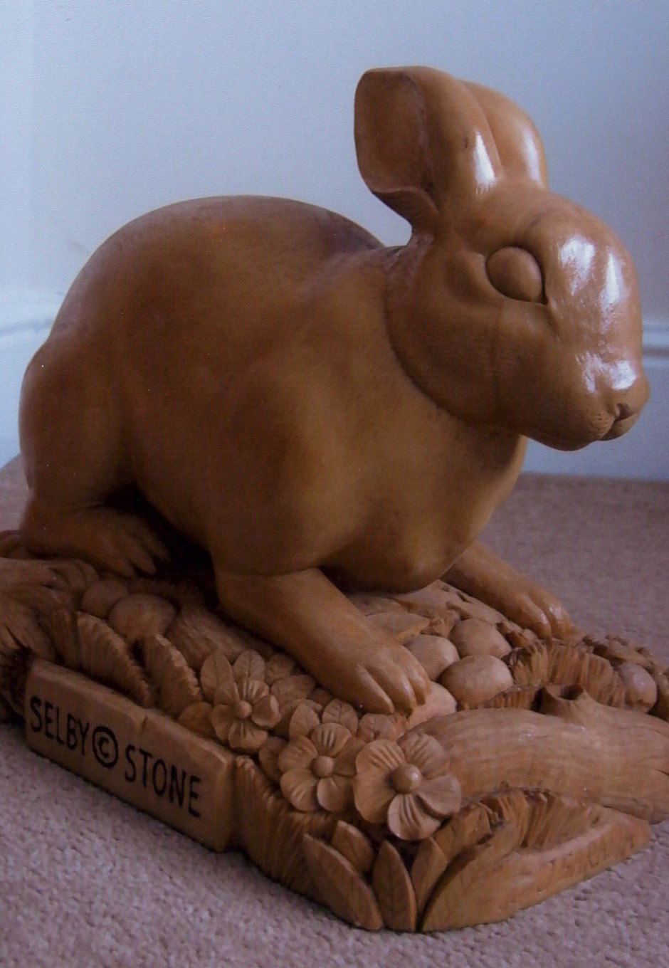 Hand Carved Rabbit - rabbit, wood, carving