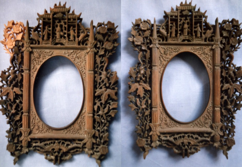 Resstoration Of A Chinese Mirror Carved From Boxwood. - boxwood chinese mirror, boxwod chinese mirror