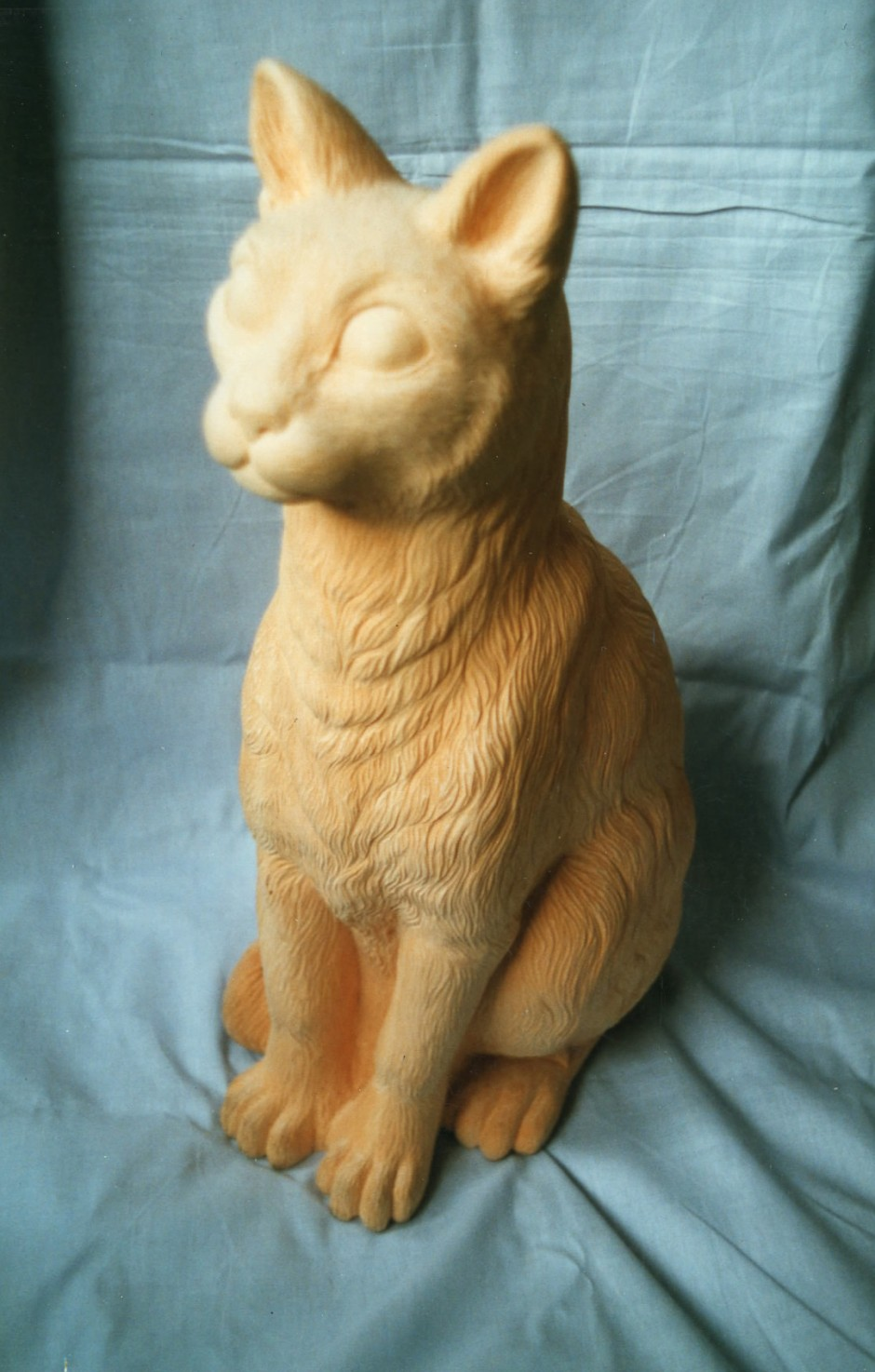 Sitting Cat - sitting cat, wood carving, jelluton
