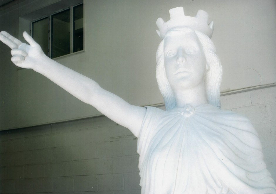 The Final Statue Of Nike For The War Memorial - nike goddess of victory war memorial carving