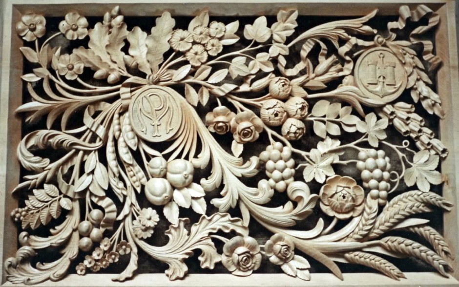 The finished carving - wall plaque carved in wood