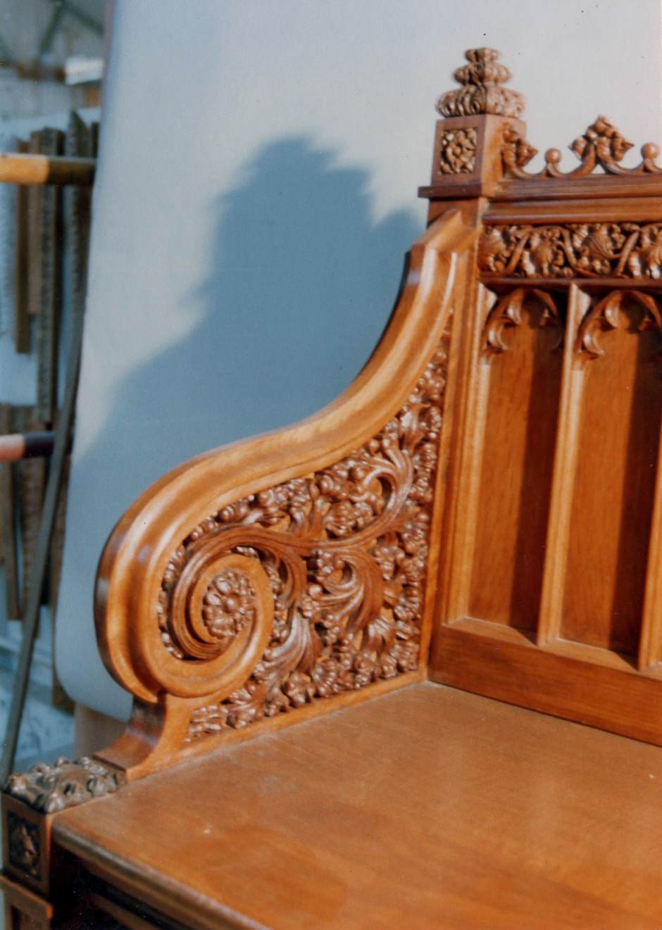 The original Victorian Gothic bench to be reproduced - reproduction bench victorian gothic