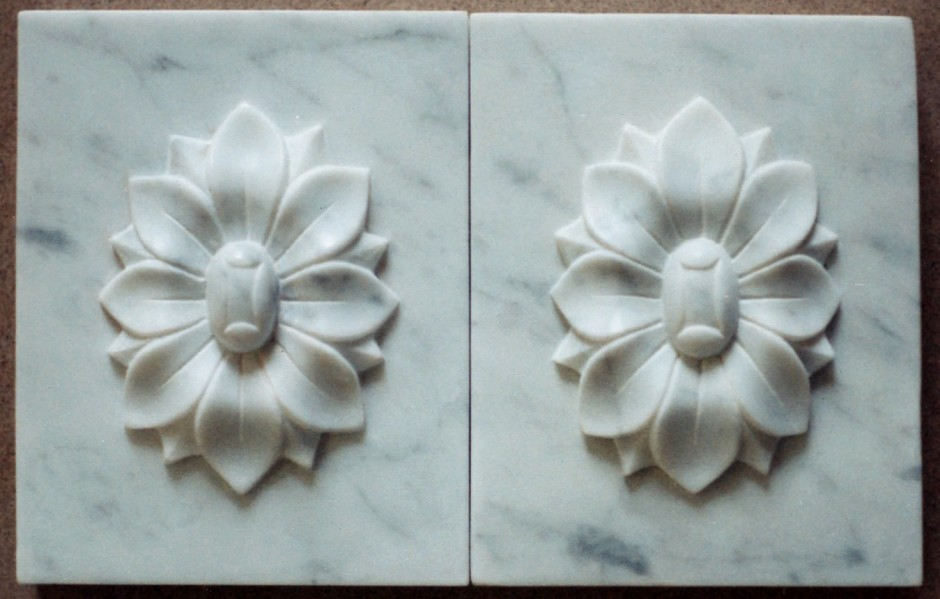 Two Bosses For The Fire Surround In Marble - bosses fire surround marble